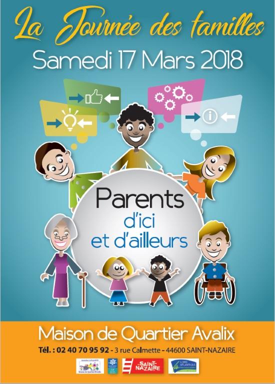 Affiche de la journée des familles à Avalix