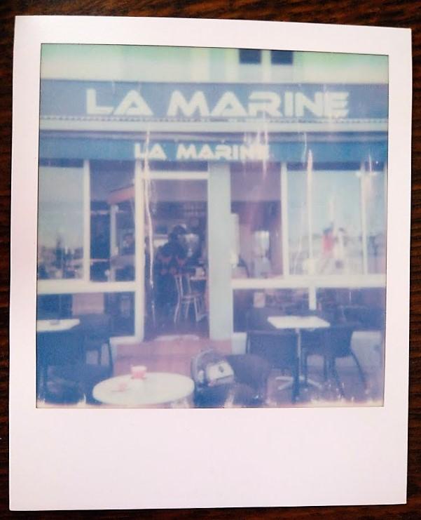 Vue de la terrasse du café de La Marine à Saint-Nazaire